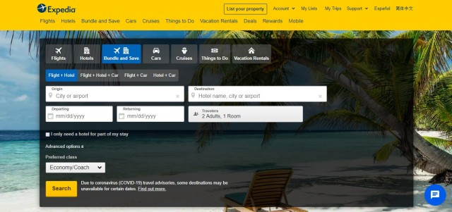 expedia.com websitesi