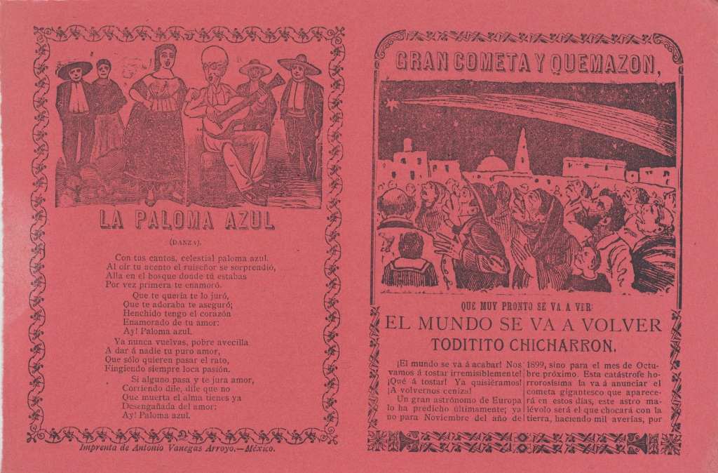 La Paloma Şarkısı için Basılmış Bir Albüm Kapağı